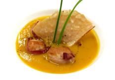 Vellutata di zucca con capesante e pancetta - www.boeucc-saronno.it - Ristorante Boeucc Saronno