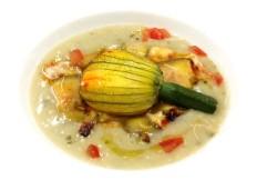 Parmigiana di zucchine con vellutata di carciofi - www.boeucc-saronno.it - Ristorante Boeucc Saronno
